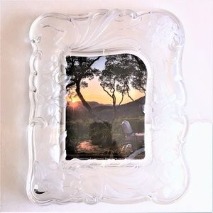 MIKASA CRYSTAL PICTURE FRAME * FROST & CLEAR